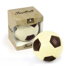 chocolate football, made of white chocolate