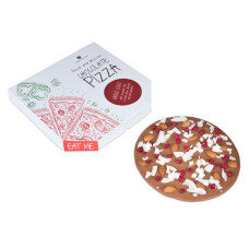 chocolate pizza, chocolate gift for kids, for a pizza fan, chocolate snacks, chocolate shapes, flavoured chocolate