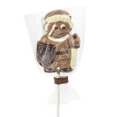 knight chocolate lollipop