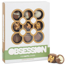 nut obsessions, pralines with nutty filling, pralines with nuts