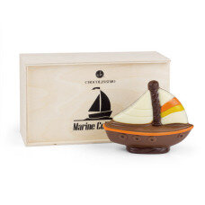 milk chocolate sailing boat