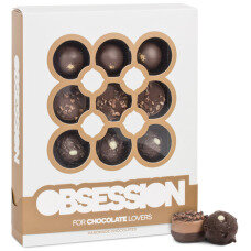 chocolate obsession, pralines with chocolate, chocolate pralines, intensely chocolate pralines