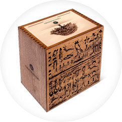 engraved wooden chocolate boxes