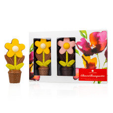 chocolate flowers, chocolate figurines, belgian chocolate