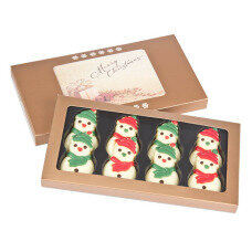 chocolate snowmen, xmas chocolates belgian