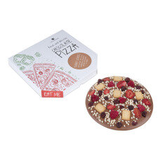 chocolate pizza, chocolate gift, chocolate snacks, flavoured chocolate, chocolate present for kids, for a pizza fan