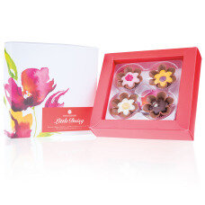 chocolate pralines, chocolate daisy, gift for women, chocolate gift