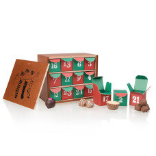 Elegant Advent Calendar with chocolates