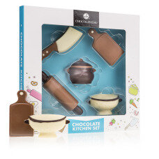 chocolate figures, belgian chocolate, gift for women, present for mother, gift for grandmother, kitchen figures