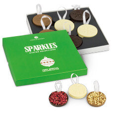 chocolate baubles, Christmas chocolate set