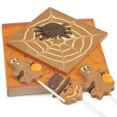 Choco Spider and 3 Halloween lollipops