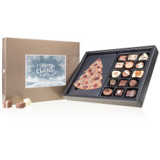 festive praline set, best quality chocolate bar