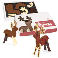 3d puzzle, spatial chocolate figurines