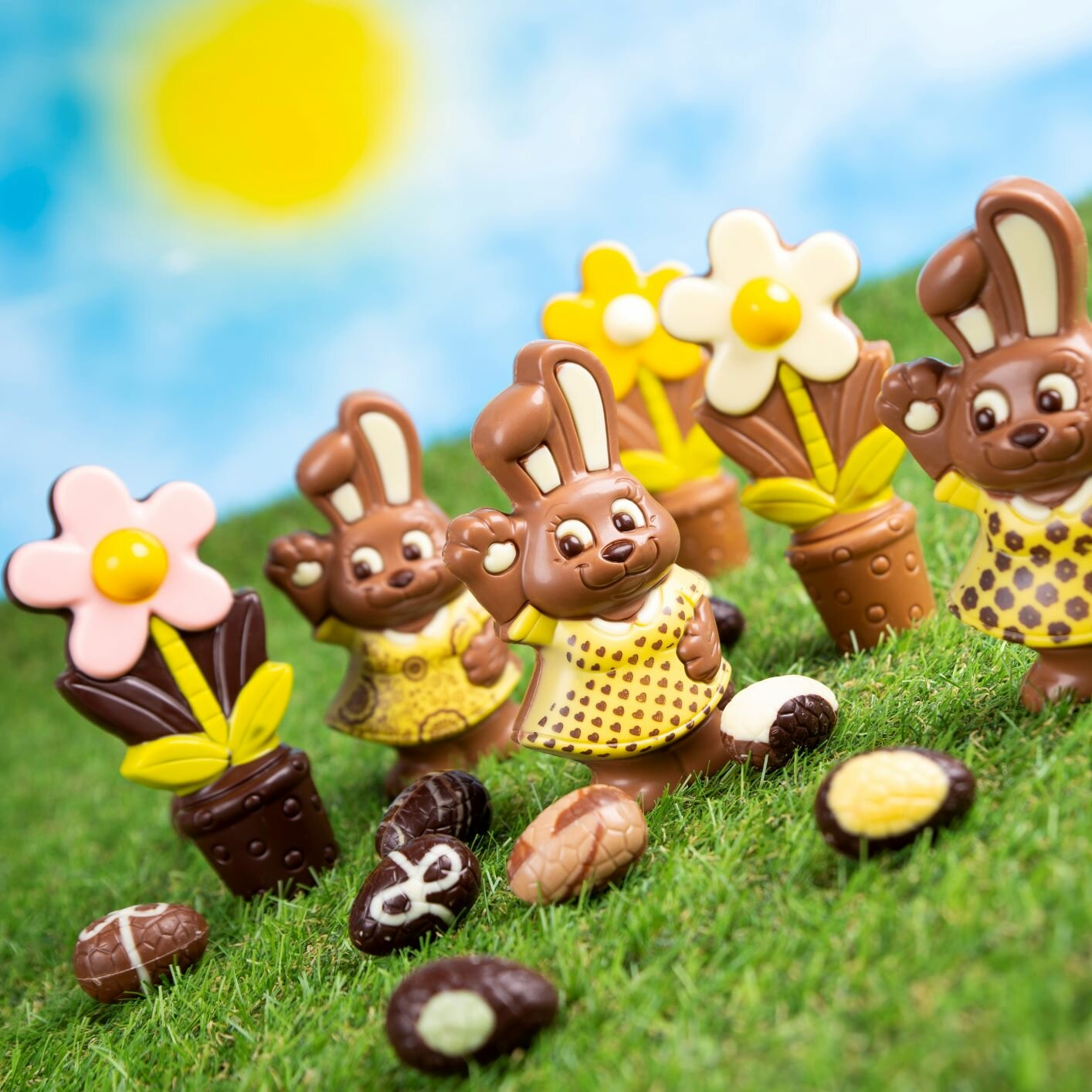 Unique Easter chocolate figures