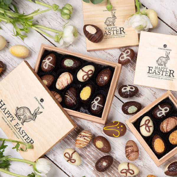 Unique easter pralines